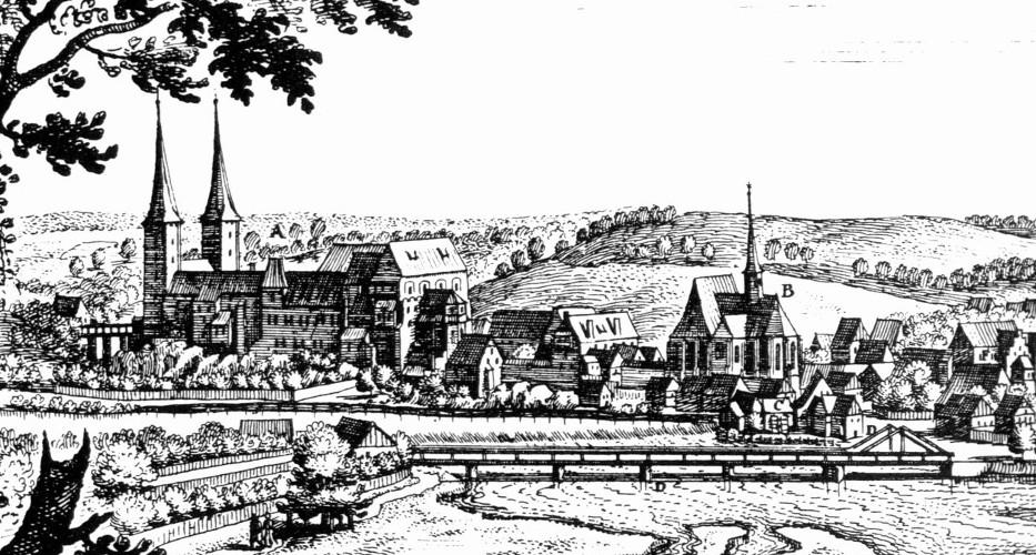 Matthäus Merian, Schloss Rochlitz, 1650.