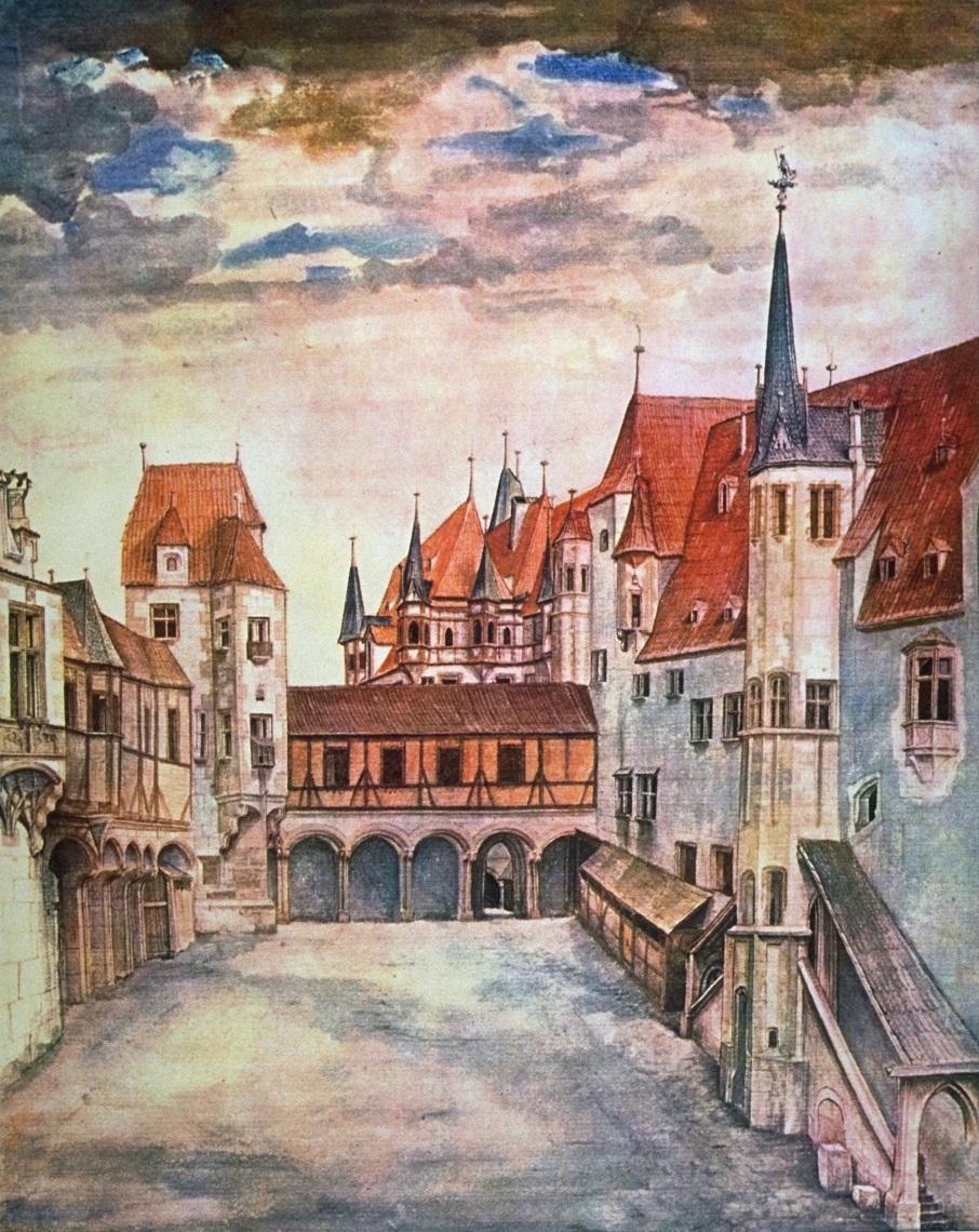 Albrecht Dürer, Hof der Burg zu Innsbruck. Quelle: WikimediaCommons, https://goo.gl/Abxz2q, aufgerufen am 15.12.2016